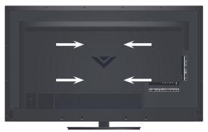 new vizio e500i a0 e500i b1 lcd tv wall mounting screws set of four 4. Black Bedroom Furniture Sets. Home Design Ideas